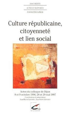 Culture républicaine, citoyenneté et lien social