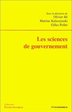 Les sciences de gouvernement